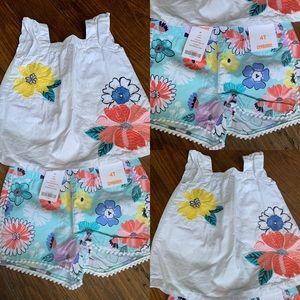 Gymboree new shorts and shirt 4T